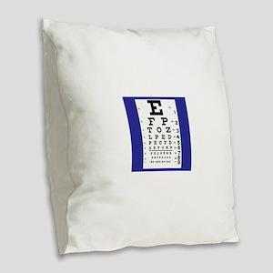 Eye Chart Burlap Throw Pillow