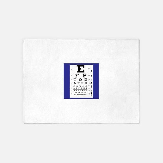 Eye Chart 5'x7'Area Rug
