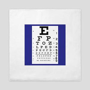 Eye Chart Queen Duvet