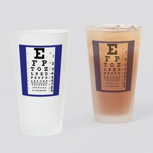 Eye Chart Drinking Glass