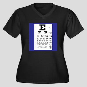 Eye Chart Plus Size T-Shirt