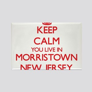 Keep calm you live in Morristown New Jerse Magnets