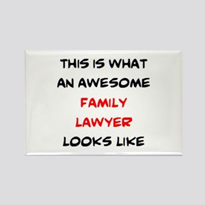 awesome family lawyer Rectangle Magnet