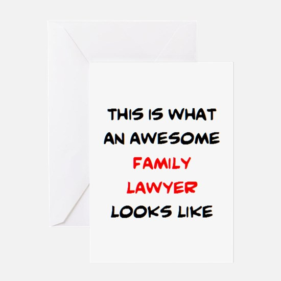 awesome family lawyer Greeting Card