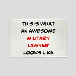 awesome military lawyer Rectangle Magnet