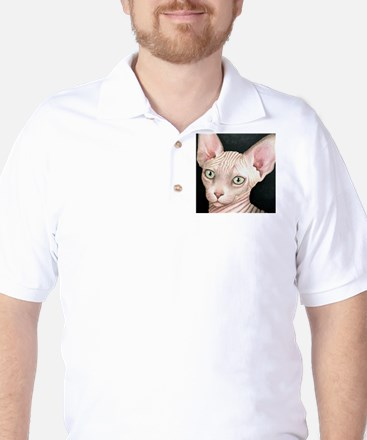 Cat 412 sphynx Golf Shirt