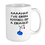 Kissed By A Beagle Large Mug