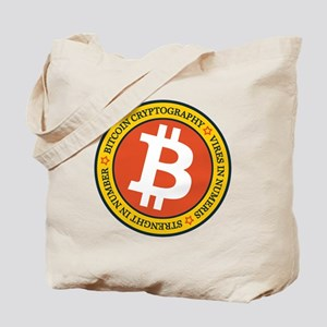 Full Color Bitcoin Logo with Motto Tote Bag
