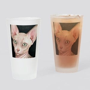 Cat 412 sphynx Drinking Glass