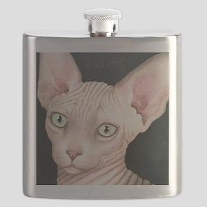 Cat 412 sphynx Flask
