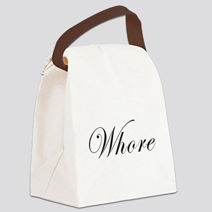 Whore Canvas Lunch Bag