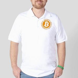 Type 2 I Accept Bitcoin Golf Shirt
