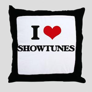 I Love SHOWTUNES Throw Pillow