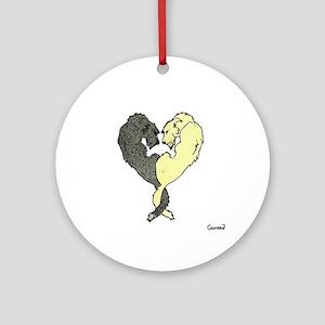 Irish Wolfhound Heart Ornament (Round)