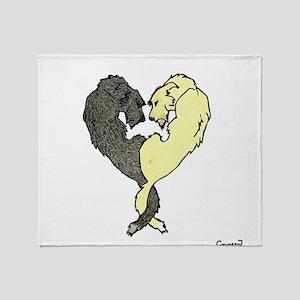 Irish Wolfhound Heart Throw Blanket