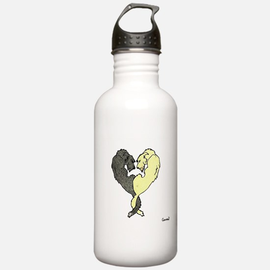 Irish Wolfhound Heart Water Bottle