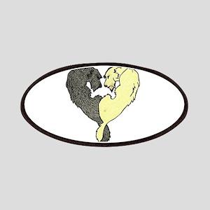 Irish Wolfhound Heart Patches