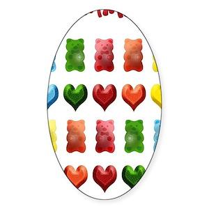 c3652dca832153 Gummy Bear Stickers - CafePress