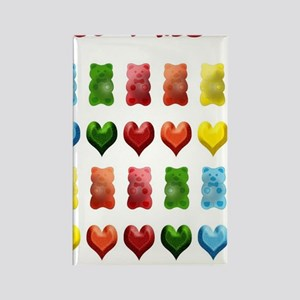 Gummy Bears, Jelly Hearts Rectangle Magnet