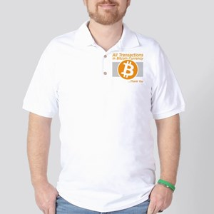 All Transactions in Bitcoin Currency Golf Shirt
