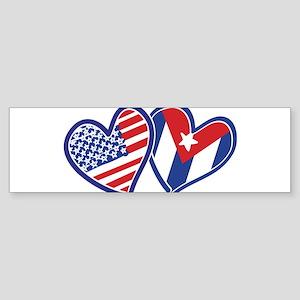 USA and Cuba Patriotic Flag Sticker (Bumper 50 pk)