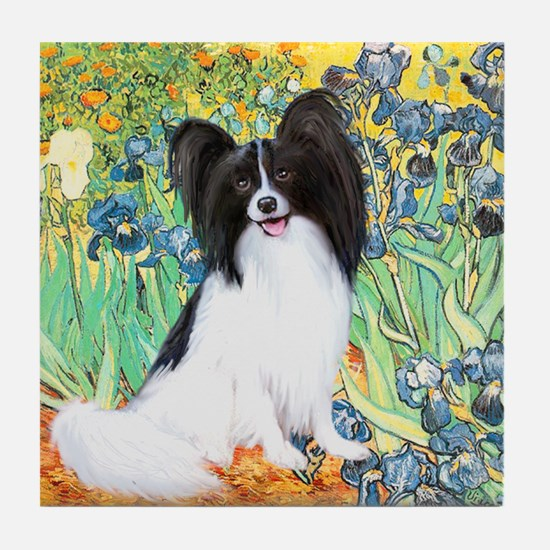 Irises & Papillon Tile Coaster