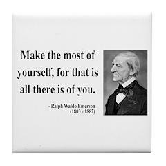 Ralph Waldo Emerson 19 Tile Coaster