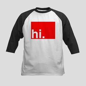hi Typography Greeting Baseball Jersey