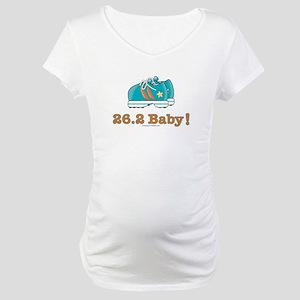 26.2 Marathon Runner Shoes Maternity T-Shirt
