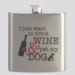 Wine and Dog Flask