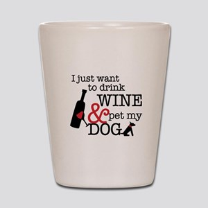 Wine and Dog Shot Glass
