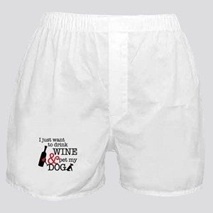 Wine and Dog Boxer Shorts