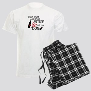Wine and Dog Men's Light Pajamas