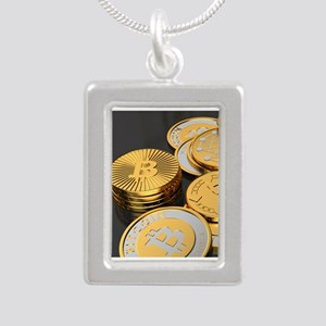 Bitcoins on a table Necklaces