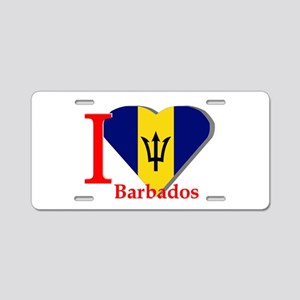 I love Barbados Aluminum License Plate