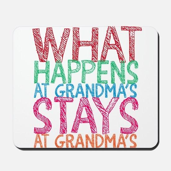 What Happens at Grandma's Mousepad
