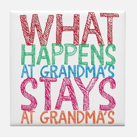 What Happens at Grandma's Tile Coaster