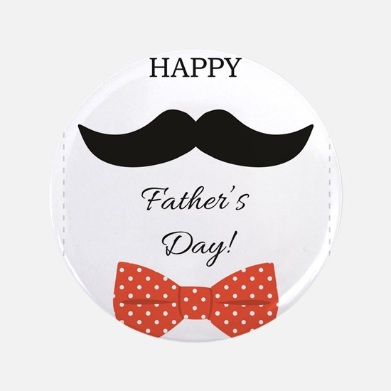 Happy Fathers Day Mustache Red Polka Dot Bow Tie 3