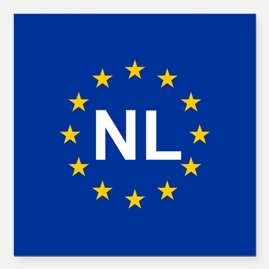 "sticker nL blue 10x10.ps Square Car Magnet 3"" x 3"""