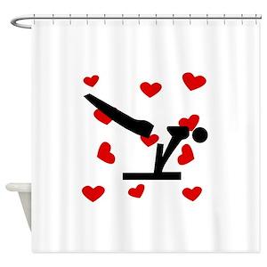 Pommel Horse Shower Curtains