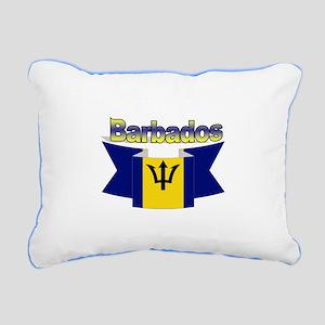 I Love Barbados Rectangular Canvas Pillow