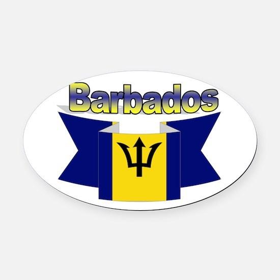 I love Barbados Oval Car Magnet