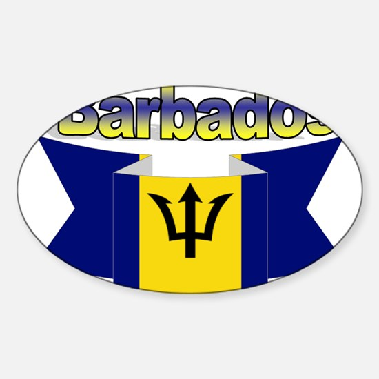 I love Barbados Sticker (Oval)