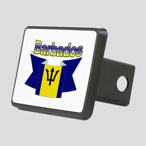 I Love Barbados Rectangular Hitch Cover