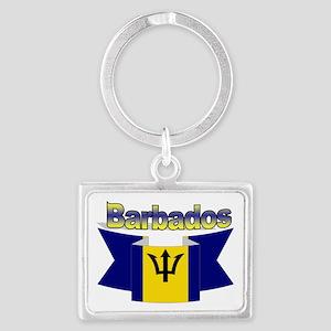 I love Barbados Landscape Keychain