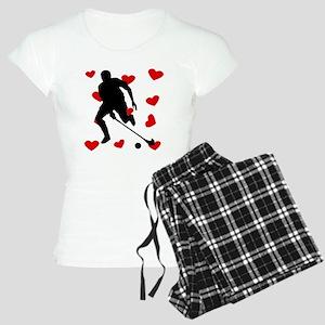 Field Hockey Hearts Pajamas