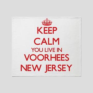 Keep calm you live in Voorhees New J Throw Blanket