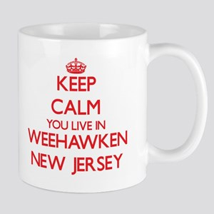 Keep calm you live in Weehawken New Jersey Mugs