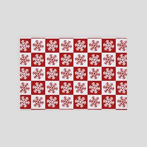 Snowflakes Pattern 4' x 6' Rug