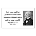 Ralph Waldo Emerson 22 Rectangle Sticker
